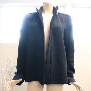 Vince Black Military/Utility/Moto Wool Jacket